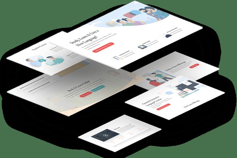 3-D Website design layout