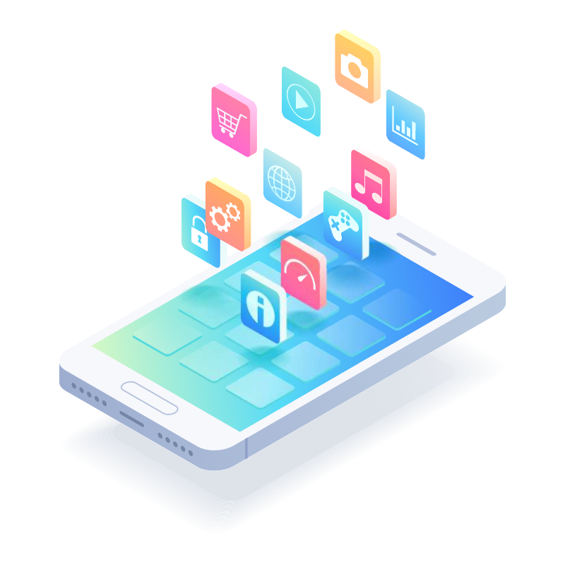 Digital marketing channels shown on iphone